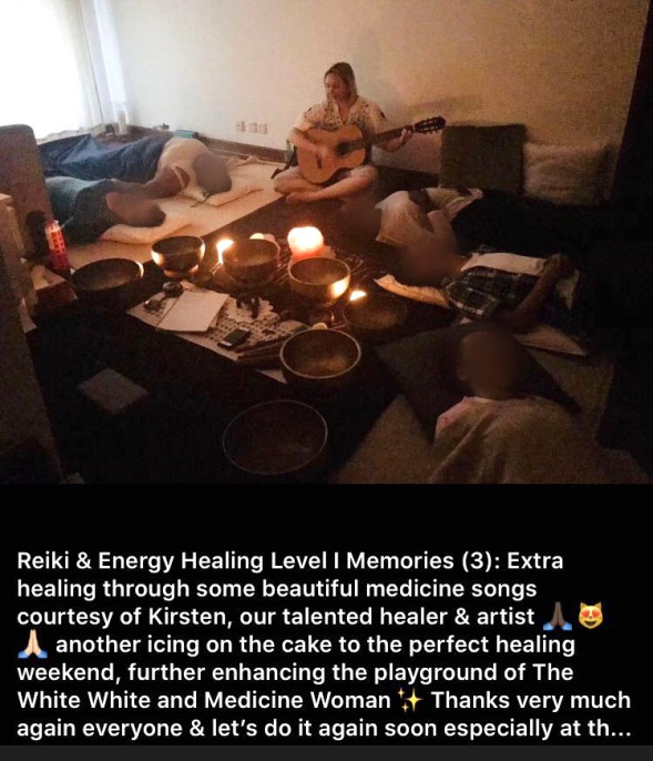 Reiki Share-Kirsten singing