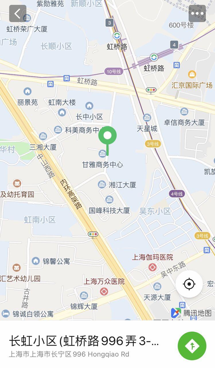 Hong Qiao Lu 996-map